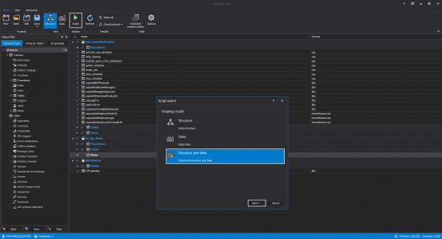 ApexSQL Script - database scripting execution