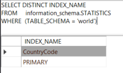MySQL information_schema database - find indexes
