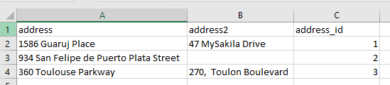 Exported MySQL data by using ApexSQL Database Power Tools for VS Code Export to CSV option