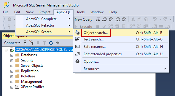 Object search command